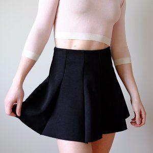 TOPSHOP Black Pleated Mini Skirt Petite 2
